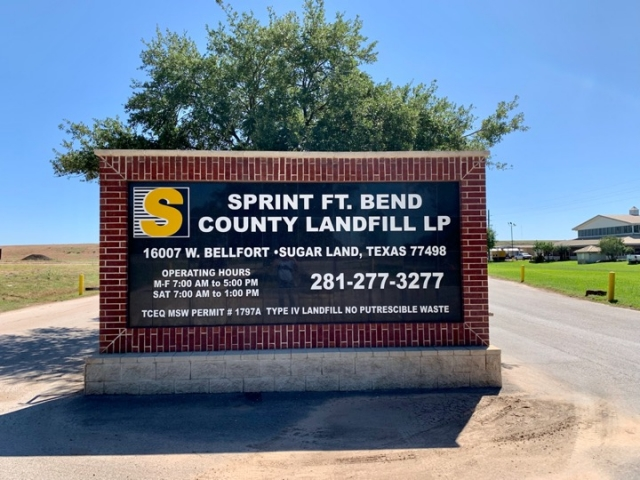 Sprint Fort Bend County Landfill Sprint Waste The Leader In Solid Waste Management